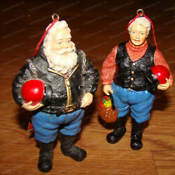 North Pole Motorcycle Club Mr. And Mrs Santa Claus Ornament By Possible Dreams