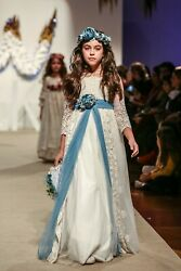 Mon Air Girland039s First Communion Dress Spain Designer 2019 Collection.