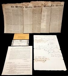Lot Of 9 Pieces Of War Of 1812 Era Ephemera From 1814 To 1815