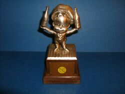 Dr Pepper Advertising 1950's Extremely Rare Perky Dr Pepper Mascot Silver