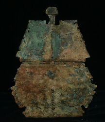 Rare China Bronze Dynasty Palace Fengshui Mysterious Rune Incense Burner Censer