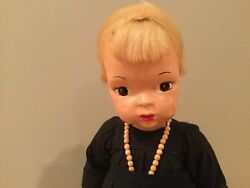 Doll Terri Lee Nun Painted Plastic Doll Blonde Wig 1950and039s