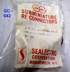 Sealectro Elect. Receptacle Connector For Mil. Radio - P/n 58-010-0109-67 Nos