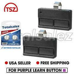 2 For Garage Door Gate Remote Opener Control Clicker For Liftmaster 372lm 315mhz