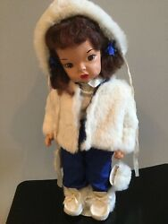 Doll Terri Lee Auburn Painted Plastic Blue Nanook Outfit Mannequin Wig Loopy