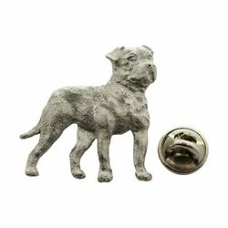 American Bulldog Pin Antiqued Pewter Lapel Pin