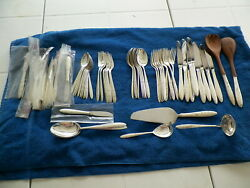 1956 Gorham Retired 65 Pc Sterlig Silver Svc8 +xtras And Serving Pieces Flatware