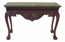 30960ec Marble Top Ball And Claw Mahogany Console Table