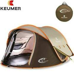 High Quality Spacious Large Double Layered Camping Tent (up to 4 sleepers)
