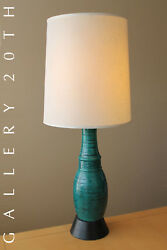 Wow Mid Century Danish Modern Blue Green Metal Lamp 50and039s 60and039s Vtg Atomic Retro