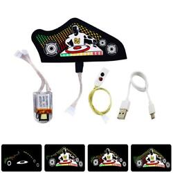 Sound-Activated LED Strip Light DIY IP64 EL Panel for Shoes Hats Bags Clothes