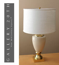 Marvelous Frederick Cooper French Empire Table Lamp Cream Gold Vtg 60and039s Retro