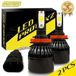 H4 9003 Led Headlight Kit Hi Lo With Cooling Fan In One Bulb 800w 120000lm 6500k