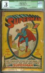 SUPERMAN #1 CGC .5 CROW PAGES