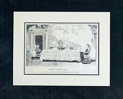 Charles Dana Gibson Original Pen And Ink Drawing A Castle In The Air