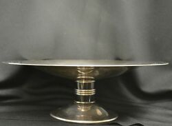 Christofle Silverplate Art Deco Candy Dish Or Cake Plate