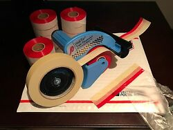 Dual Tac Tape® Starter Pack - Includes Dispenser And 3 Tape Rolls W/ Free Shipping