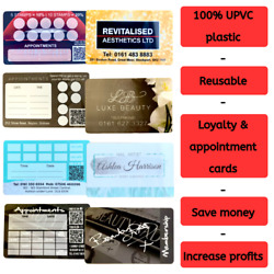 100 Plastic Reusable Appointment Reminder Loyalty Card Hairdresser Beauty Salon