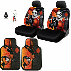 New Harley Quinn Auto Car Seat Covers Floor Mat Keychain Cover Set For Mercedes