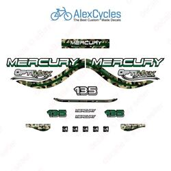 Mercury Optimax Bluewater 135 Hp Army Camo Camouflage Outboards Decals Stickers