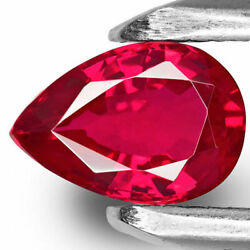 Mozambique Ruby 0.91 Cts Natural Untreated Vivid Intense Pinkish Red Pear