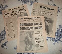 3- Rare Editions Of N.y.c. Newspapers During The Pressman's Strike Of 1978.
