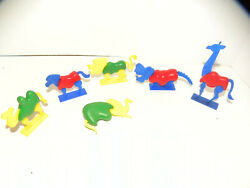 Vintage Hard Plastic Zoo Animals With Removable Parts. Very Unusual 1950's