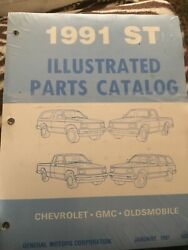 1991 Gmc / Chevrolet S/t Illustrated Parts Catalog Manual Sealed Never Opened