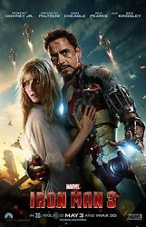 Iron Man 3 Movie Poster Print  11 X 17 Inches Style E Robert Downey Jr