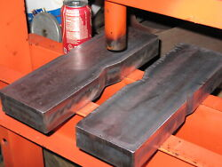 50 Ton Notched Steel Shop Arbor Press Plates Hydraulic H-frame Bed Bars, Pair