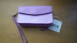Vera Bradley Smartphone Wristlet for iPhone 6 Purple *LEATHER* NEW w tag Retail $24.47