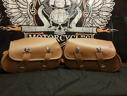 Indian Chief Tan Leather New Saddlebags