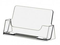 Business Card Holder Gift Card Display Ridged Horizontal Stand Clear Qty 1000