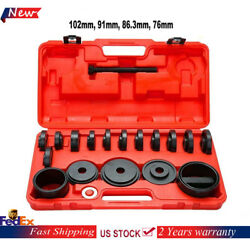 23Pc New Front Wheel Drive Bearing Kit Removal Adapter Puller Pulley Hand Tool