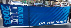 Aa.  Huge 2003 Rugby Union World Cup Street Flag / Pennant