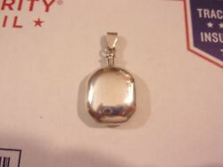 Vintage Sterling Silver Mexican/mexico Pendant Perfume Scent Bottle With Dauber