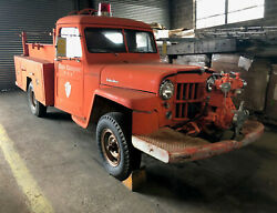 1958 Willy's Custom Fire Truck with water pump hose reel sprayer 2 in hoses