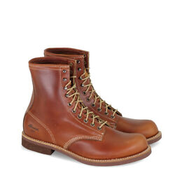 Menand039s Thorogood Tomahawk Cognac 814-4107 Leather Lace Up Boots 1892 Series Usa