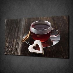 Tea Heart Cookie Kitchen Canvas Wall Art Print Poster Picture Ready To Hang