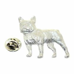 French Bulldog Pin Antiqued Pewter Lapel Pin