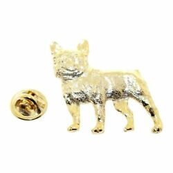French Bulldog Pin 24K Gold Lapel Pin