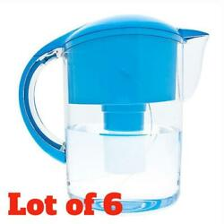 Lot of 6 Code Blue Large 10 Cup Water Filter Purifier Filtration System Pitcher