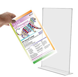 Poster Sign Holder 11 X 17 Notice Photo Frame Flat Bottom Load Counter Qty 24