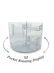 Rotating Business Card Organizer 12 Pocket Gift Card Holder Counter Top Qty 24