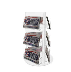 Rotating Business Card Organizer 9 Pocket Holder Counter Top Rack Display Qty 24