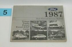 1987 Tempo Topaz Do It Yourself Factory Service Manual GOOD USED CONDITION #5