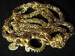 CHAIN NECKLACE BARBARA BIXBY 18K YELLOW GOLD COUTURE DESIGNER BYZANTINE Gift
