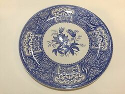 The Spode Blue Room Collection Floral Plate Platter, 12 3/4 Diameter