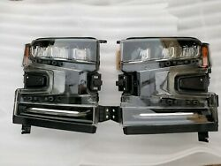 NEW LED 2019 19 CHEVY SILVERADO HEAD LIGHTS LAMPS LEFT RIGHT DRIVER PASSENGER