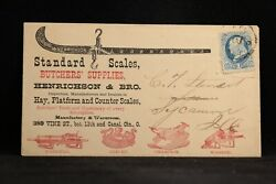 Ohio Cincinnati 1870s Butcher Scale And Supplies Illustrated Advertising Cover